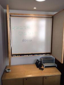 4'x4' Wall / presentation board and Storage cabinet