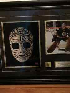 """Gerry Cheevers   31.5"""" x 25"""" Autographed frame Hockey"""