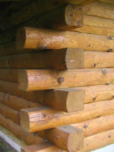 "1,800 Lineal Feet, 8"" x 10"" Kiln-Dried White Pine D-Log Cabin Logs - Hand-Peeled"
