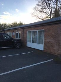 OFFICE SUITE TO LET WITH PARKING SECURE GATED 24 HR CCTV QUIET RURAL LOCATION.