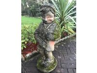 LLarge Old Style Stone Belgium Cheeky Peeing Boy Fountain Spout Water Feature