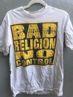 BAD RELIGION shirt No Control Epitaph Records Vintage punk rock 80s (Bad Religion No Control)