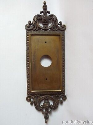 - Large Antique Brass Backplate for Door Knobs Knocker or Sconce 7 wide x 21 tall