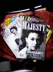 COLLECTORS 10 MAJESTY MAGAZINES - ROYAL MONTHLY - SOME SPECIAL/TRIBUTE EDITIONS - JOB LOT