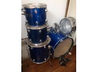 Performance Percussion drum kit - full size - electric blue