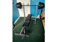 Adjustable Gym Bench With 45KG Weight