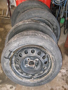 "14"" Steel Rims / Snow Tires / 4x100"