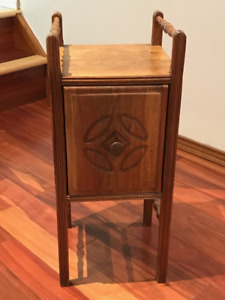 Antique vintage smoker side table or smoking stand