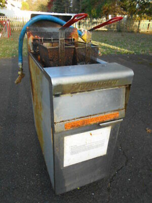 Untested Frymaster Pmj135sd Commercial Gas Fryer - Natural Gas