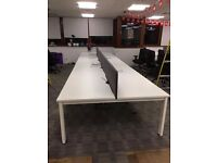 office furniture 1.4 meter quality senator white bench desking in pods of 4,6,8