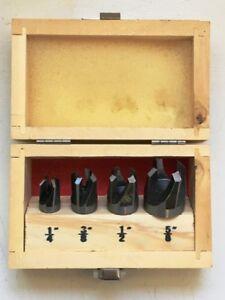 "Plug Cutter Set - 4pc - 1/4"", 3/8"", 1/2"" & 5/8"""