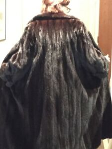 Stunning black diamond full length mink coat.