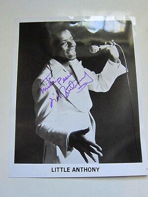 LITTLE ANTHONY  8x10 photo  AUTOGRAPHED