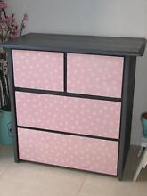 Grey & Pink 4 drawer dresser ~ Like New Varsity Lakes Gold Coast South Preview