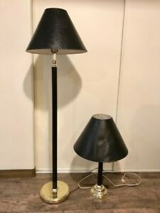 Lamps, matching floor lamp along with table lamp.