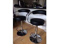 Black stylish stool x2