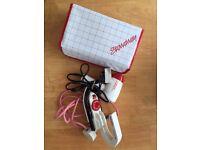 mini travel iron & hair dryer