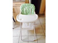 Highchair as NEW + Babe Bath for free!!