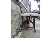 Victorian Wooden Bench Cast Iron Ends