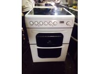 £126.26 Hotpoint ceramic electric cooker+60cm+3 months warranty for £126.26