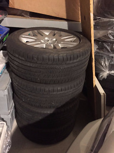 """NEW ALL SEASONS GOODYEAR 245/50/R18 18"""" WITH BMW ALLOY RIMS!!!"""