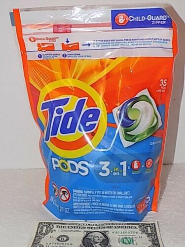 New Tide Pods 35 Count Clean Breeze Scent 3 in 1 Detergent Stain Remover 1.75LB