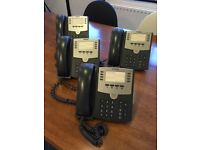 Four Cisco Small Business / Office Pro IP VOIP phones - model: SPA501G