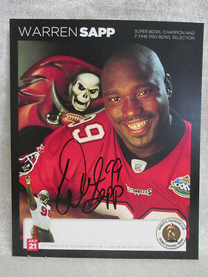 Warren Sapp Signed Tampa Bay Buccaneers 2011 Bronko Nagurski NFL 8X10 Photo