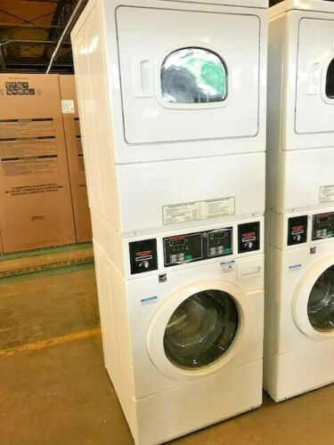 STEY77 Speed Queen Heavy Duty Electric Stack Commercial Washer/Dryer Combo