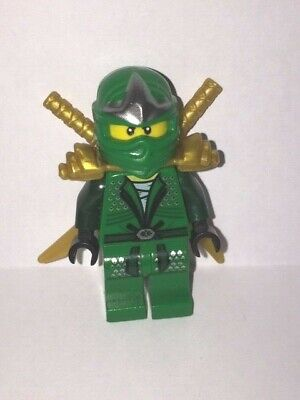 GENUINE - Lego Minifigure - Lloyd ZX Green Ninja Golden Armour - Ninjago