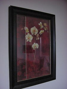 FRAMED WALL ART IN STURDY FRAME - ORCHIDS - DECORATIVE PICTURE