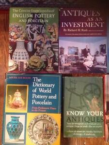 4  MASSIVE REFERENCE BOOKS ABOUT ANTIQUES