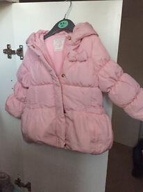 zara baby girl pink winter outerwear padded jacket 12-18 m