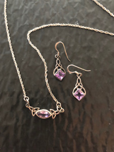Sterling Silver Celtic Necklace and Earrings