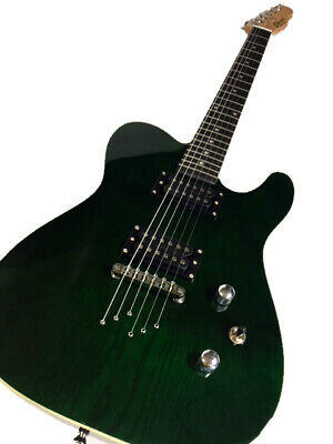 NEW TRANS GREEN 6 STRING TELE STYLE SOLID ASH BODY ELECTRIC GUITAR