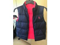 GENUINE RALPH LAUREN REVERSIBLE BODY WARMER STILL WITH TAGS