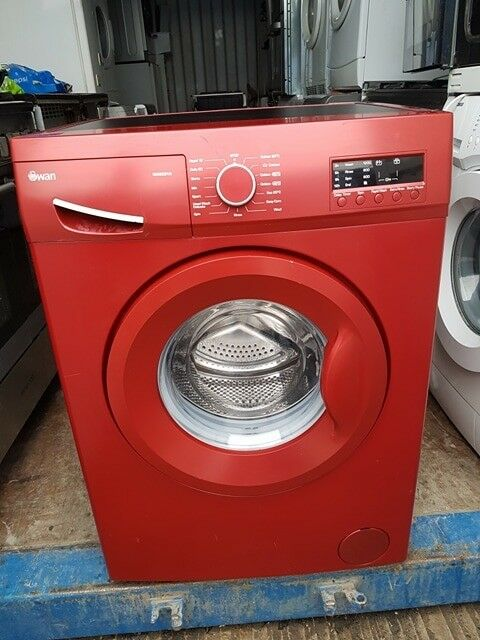 Red 'Swan' Washing Machine -Good condition / Free local delivery and fitting