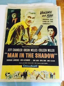 Vintage 1950's Orson Welles Movie Poster - Man in the shadow