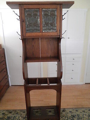SOLID QUARTERSAWN OAK ARTS CRAFTS MISSION HALL TREE UMBRELLA STAND HEAVY RARE, used for sale  Santa Maria