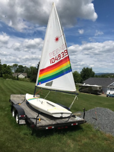 'Laser' Sailboat - Boat and Trailer