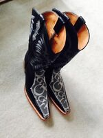 New Mens El Presidente Gold Collection Cowboy Boots 10.5