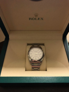 Rolex Oyster Perpetual 39 - WHITE DIAL - For Sale - $6250
