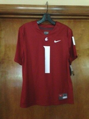 14 Red Replica Football Jersey - NIKE Washington State Replica Jersey #1 Crimson Size Youth L 14-16 NWT MSRP $55.