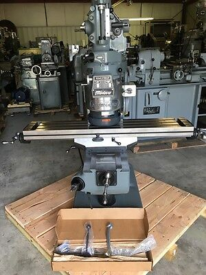 Bridgeport Milling Machine With 42 Table 2hp Vari Speed Head1 Year Warranty