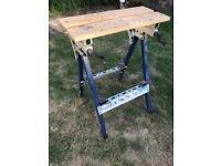 'Workmate' -type adjustable workbench - used but in good condition - bargain