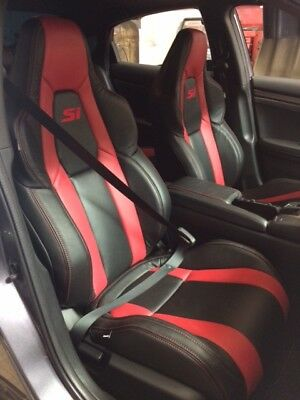 Custom Leather Upholstery - CUSTOM BLACK LEATHER UPHOLSTERY FOR HONDA CIVIC 2 OR 4 DOOR