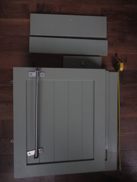 Kitchen cabinet door and drawer fronts in sage willow green