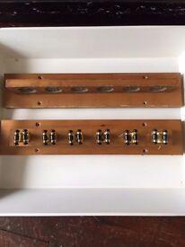 Vintage Wall Mounted SNOOKER POOL BILLIARDS Cue Rack Wooden