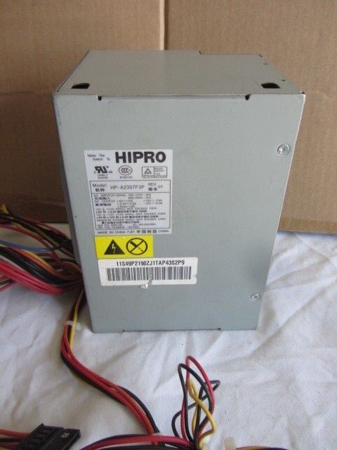 HP-A2307F3P HIPRO 230W POWER SUPPLY  IBM P/N 49P2190  TESTED  Free Shipping