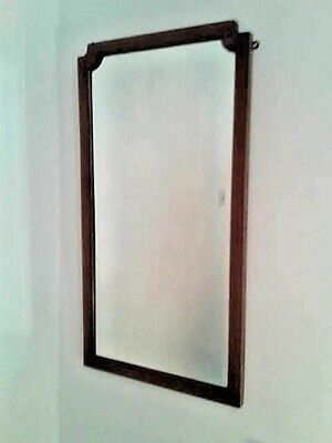 Antique Wall Mirror ~ Thought to be Edwardian ~ 87 Cm. X 47 Cm. ~  5 Kg.